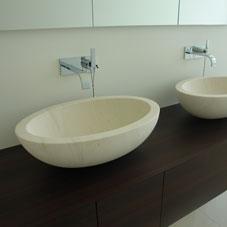 Aufgesetzte waschbecken