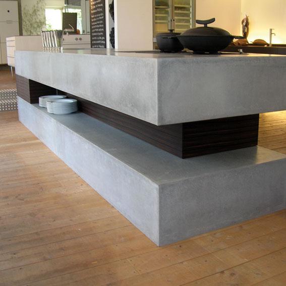 Küchenabdeckung Beton küche inbeton
